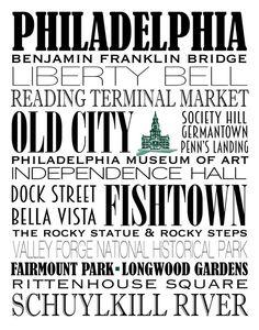 236x300 Philadelphia Skyline Word Art Print By Fortheloveofmaps On Etsy
