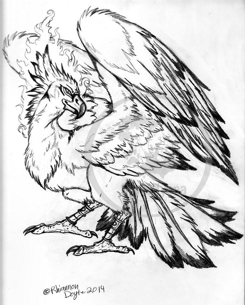 800x997 Celestial Beast, Phoenix By Thesilverhyena