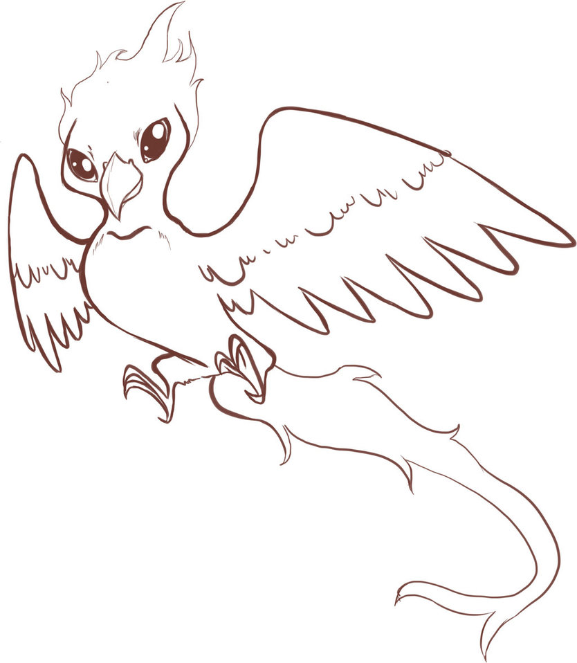 Phoenix Line Drawing at GetDrawings.com | Free for personal use ...