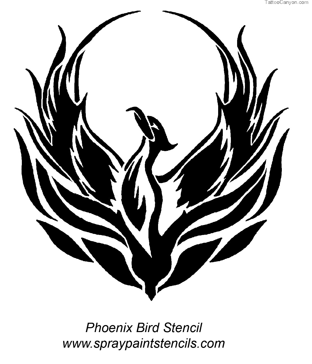 how to draw a simple phoenix