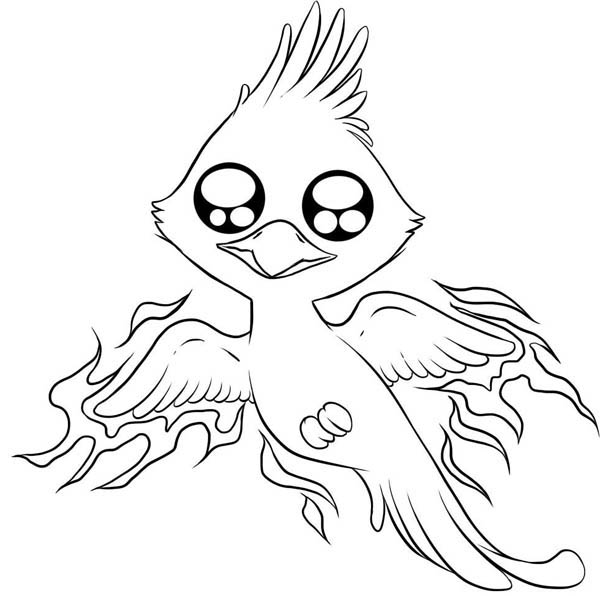 600x596 Cute Phoenix Coloring Pages Cuties Coloring Pages