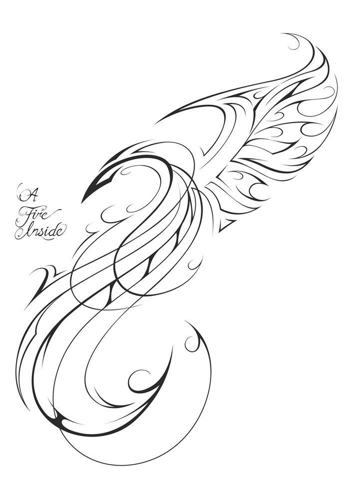 707x1000 Phoenix Tattoo Design By Patrickbrown