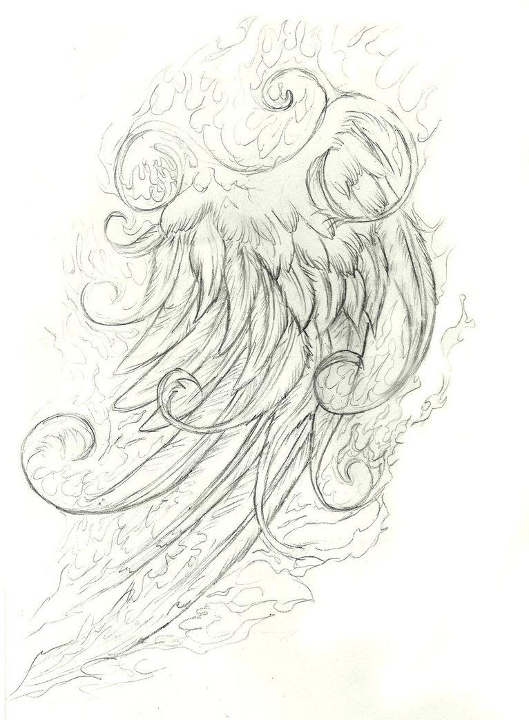 766x1042 Phoenix Pencil Sketch Wild Animals Pencil Sketches Wild Animals