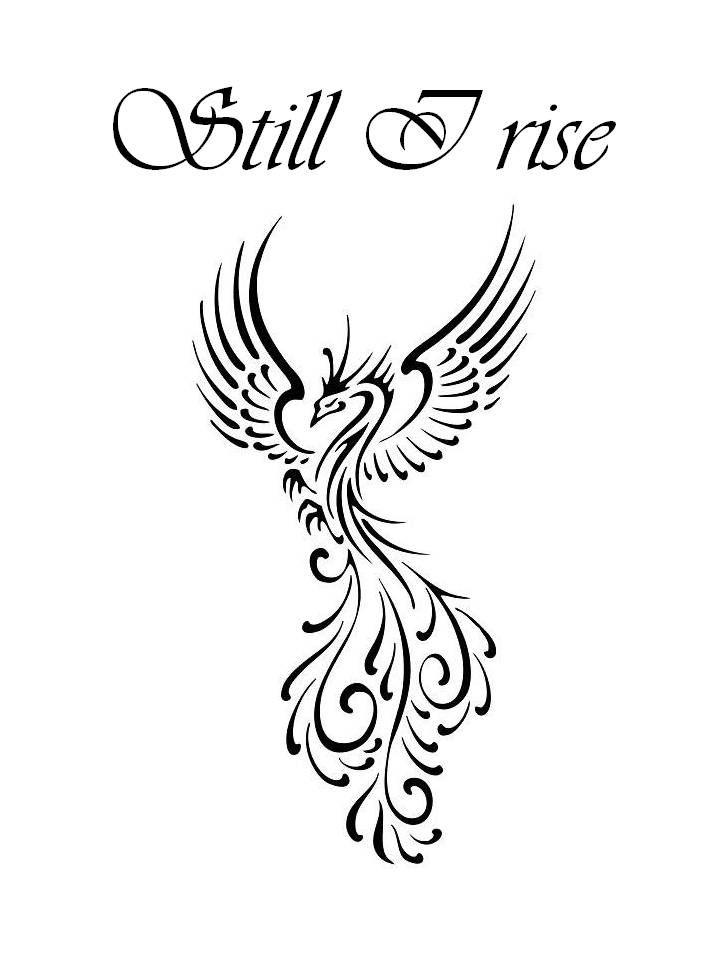 720x960 Still I Rise Phoenix Tattoo Design