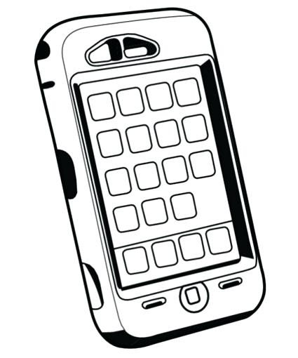 425x510 Phone Coloring Pages Coloring Page Best Imagesboutll Me On