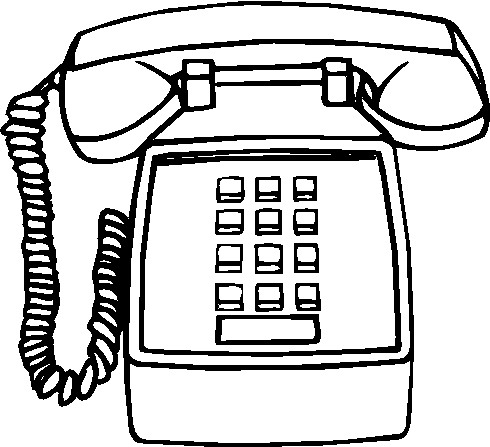 490x447 Telephone Phone Clip Art