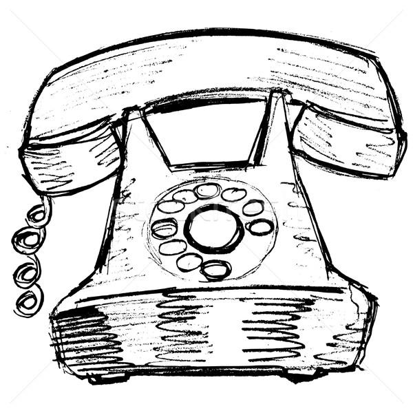 600x600 Old Phone Vector Illustration Oleksandr Kovalenko (Perysty