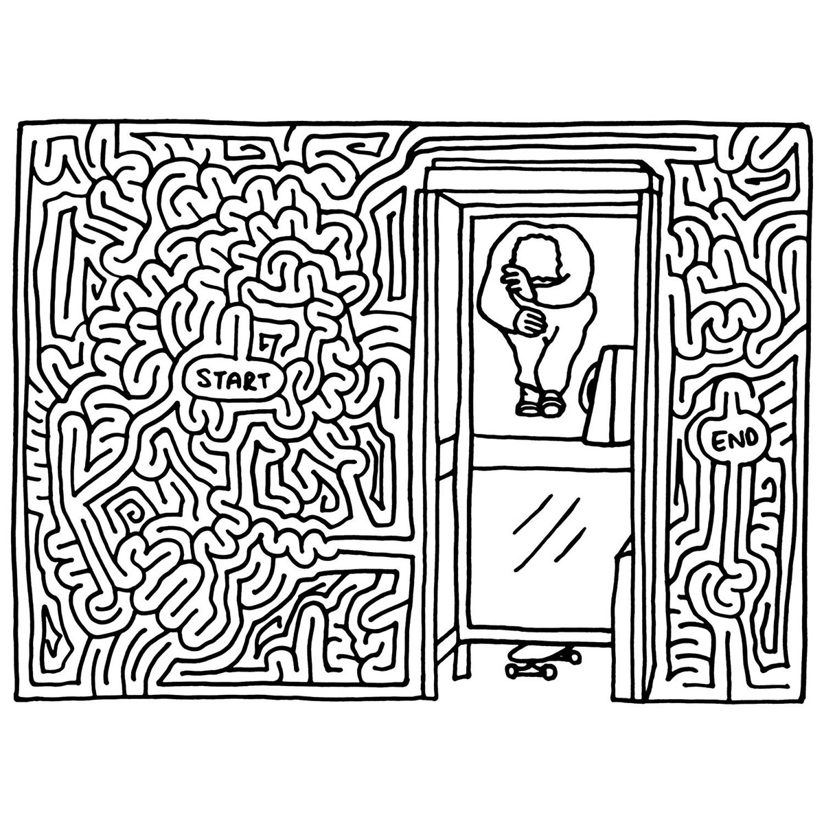 1200x1200 I Draw Mazes On Twitter Hippy Jump Through A Phone Booth Window
