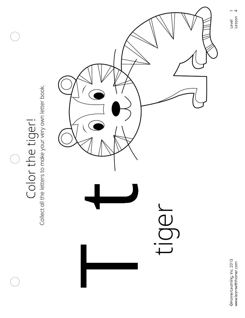 850x1100 Color The Tiger!