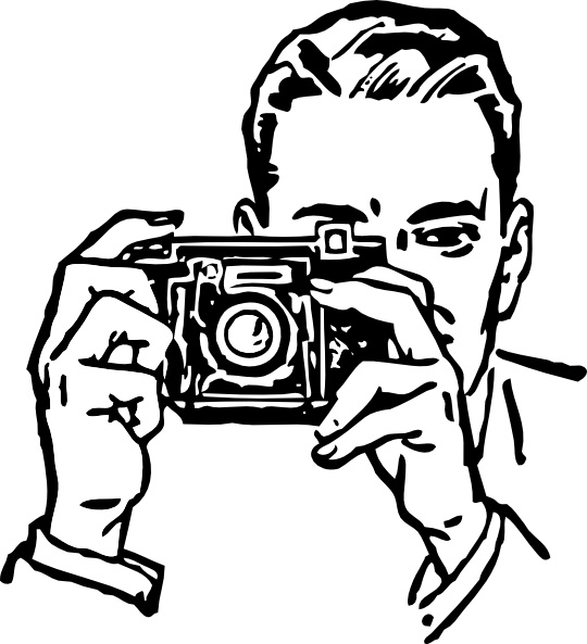 540x593 Man With A Camera Clip Art Free Vector In Open Office Drawing Svg