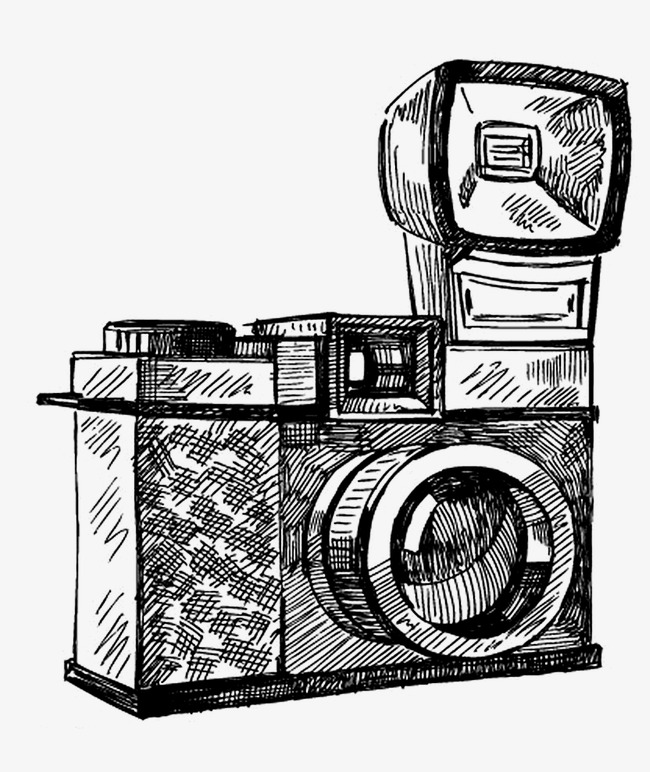 650x772 Vintage Camera, Camera, Hand Painted, Retro Png Image For Free