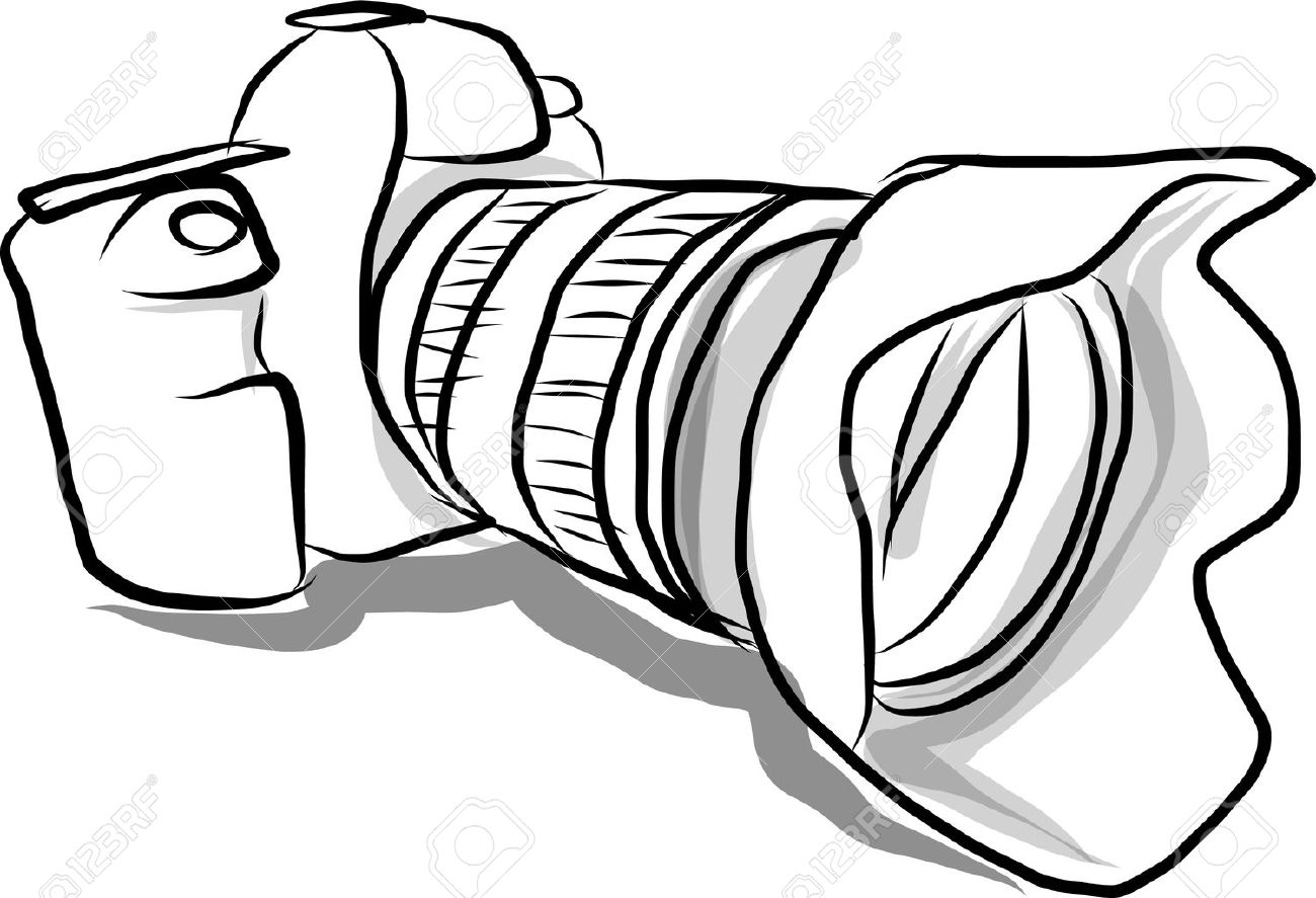1300x887 Digital Camera Hand Drawn Royalty Free Cliparts, Vectors,