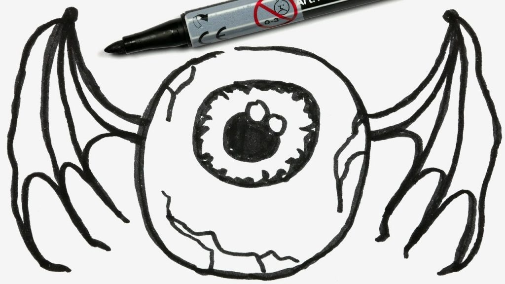 1024x576 Coloring Pages Easy Halloween Drawing Drawings For Kids Stepy