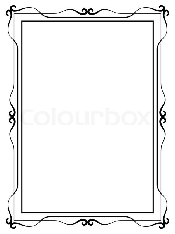 600x800 Simple Ornamental Decorative Frame Stock Photo Colourbox