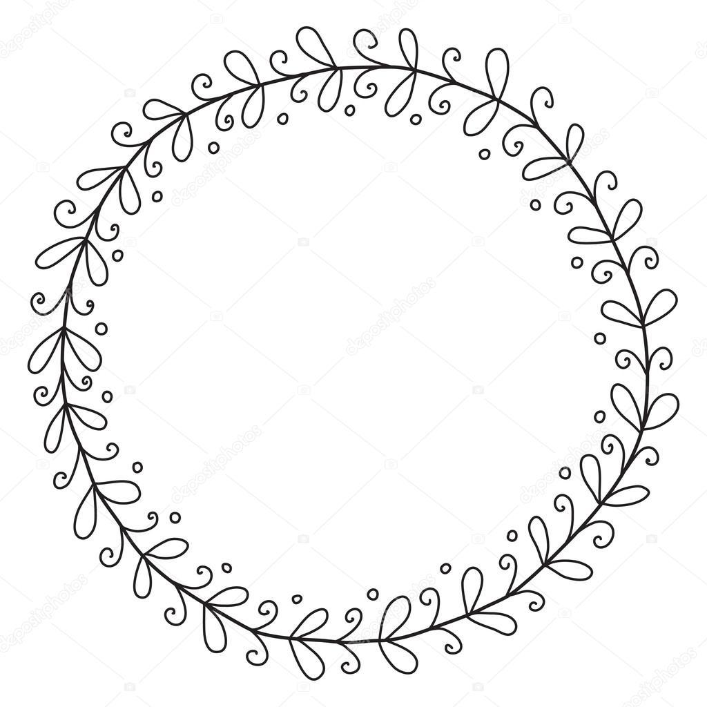 1024x1024 Vintage Decorative Frame. Vector Illustration. Sketch Of Hand