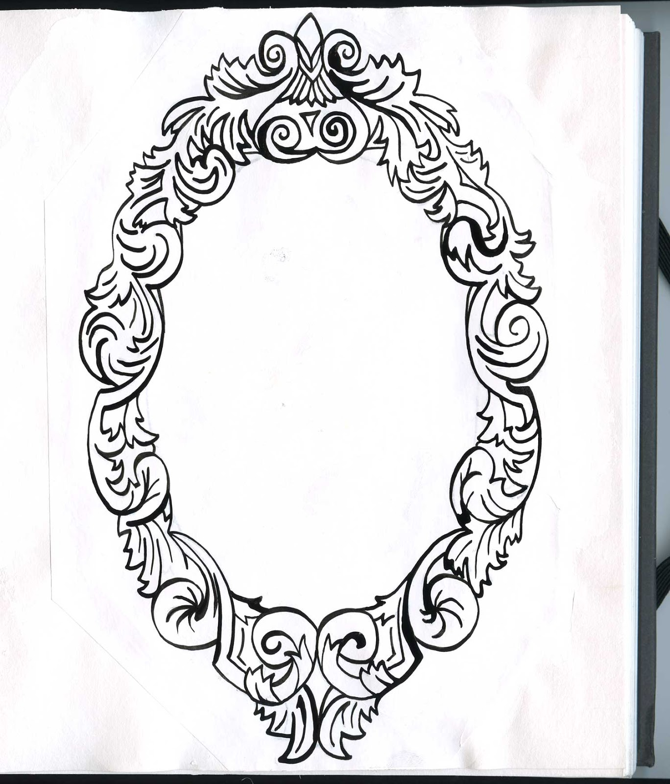 1368x1600 Vintage Frame Floral Tatting And Tattoo