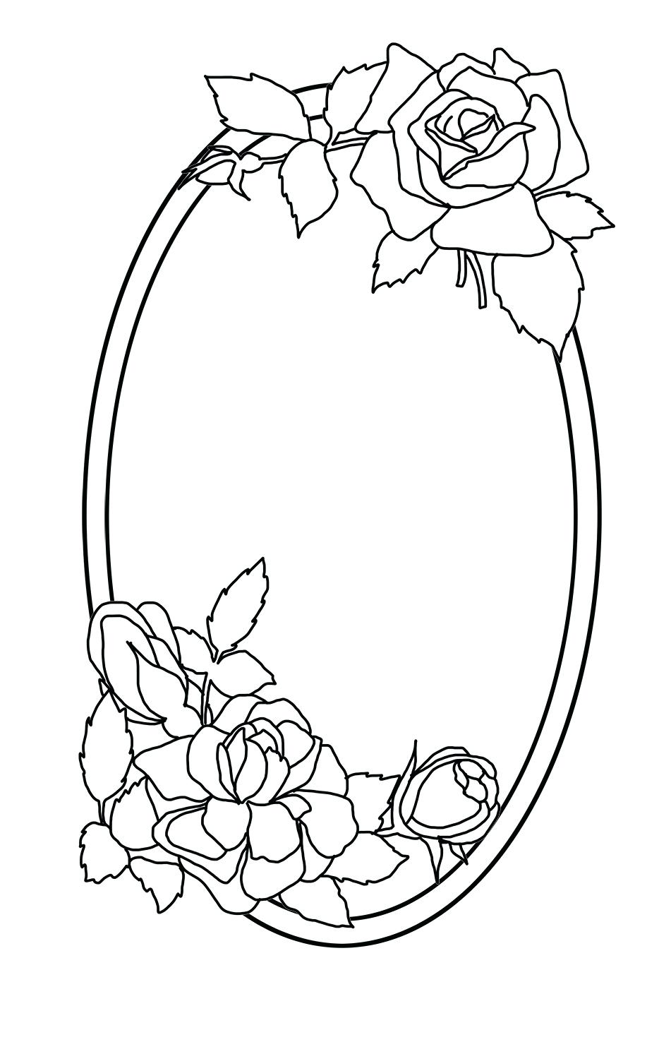 951x1476 Printable Frames Coloring Pages Printable