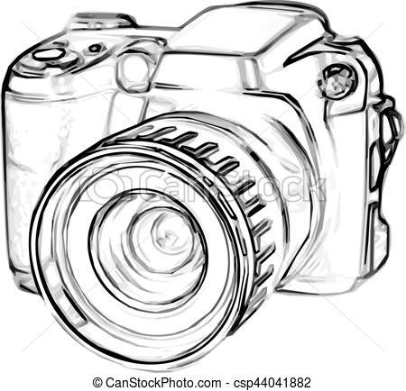 450x434 Drawing Digital Camera. Drawing Old Digital Photo Camera