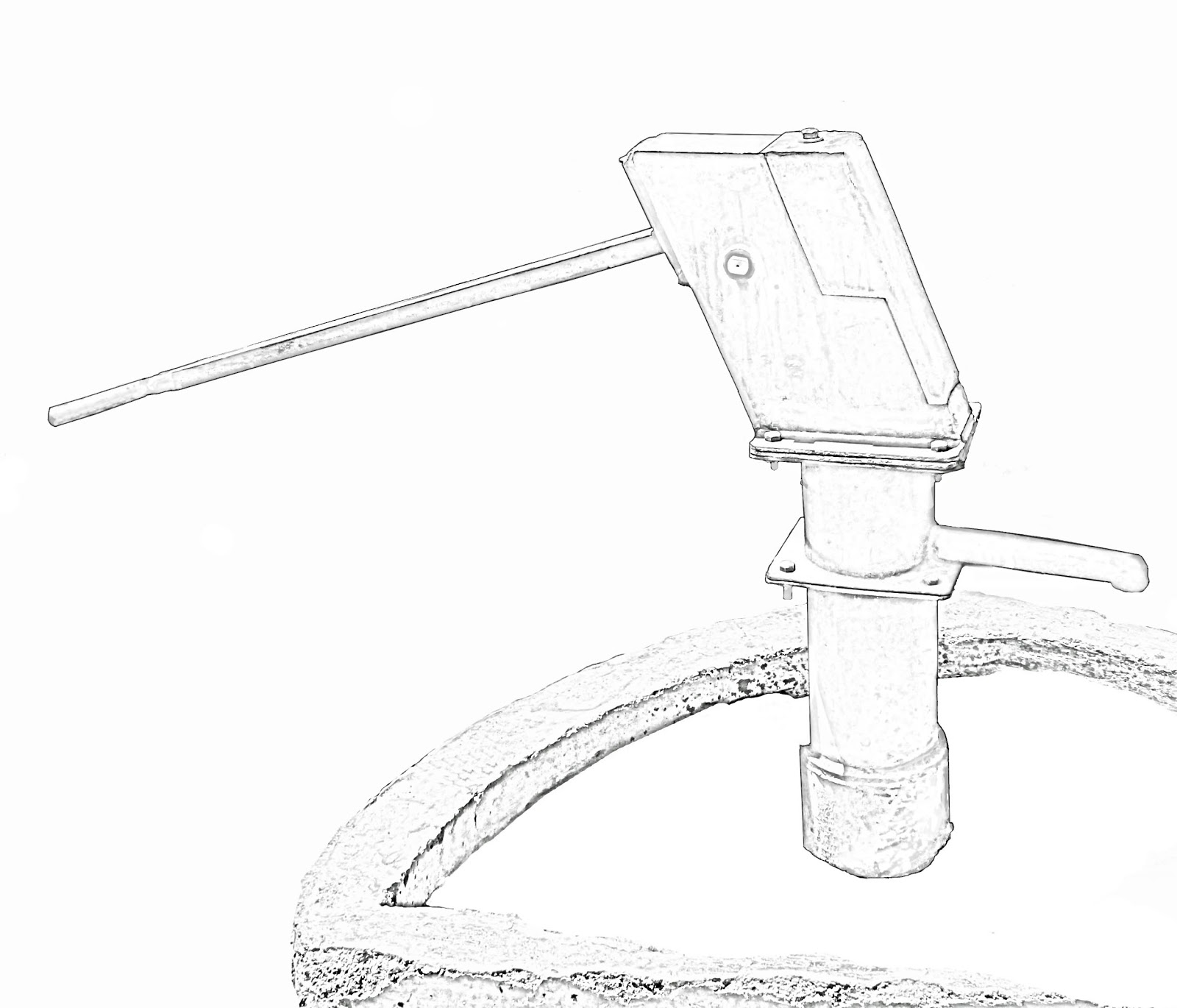1600x1370 Stock Pictures Hand Pump Sketch And Line Drawing