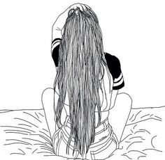 236x230 Girl, Drawing, And Black And White Image Planner Art