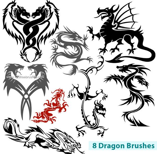 600x587 Dragon Free Photoshop Brushes Photoshop Free Brushes