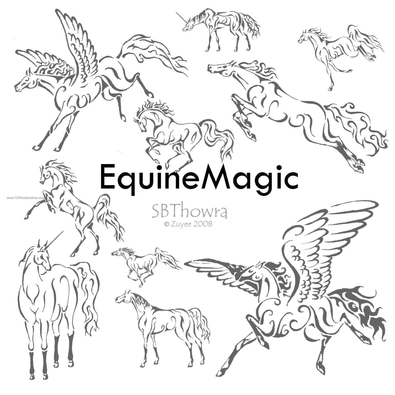 1500x1500 Equine Set Of Horse Unicorn Pegasus Photoshop Brush Download