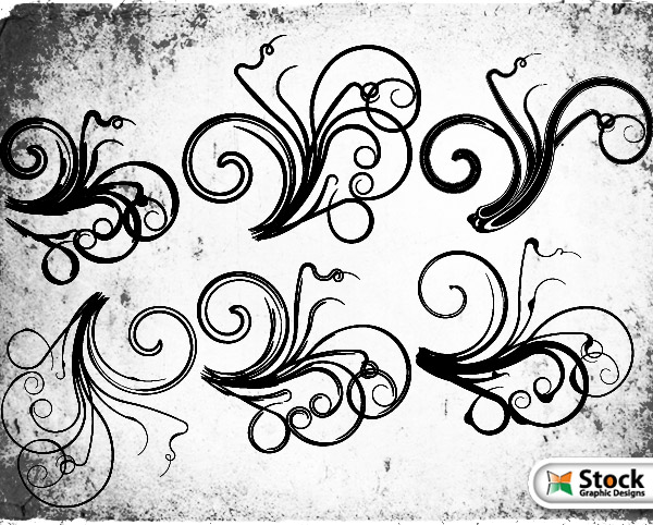 600x482 Free Floral Vector And Photoshop Brushes Free Vectors