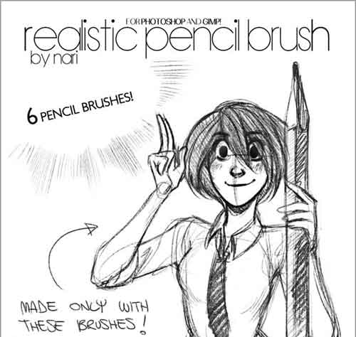 500x474 Photoshop Pencil Brush Sets For Hand Drawn Effects