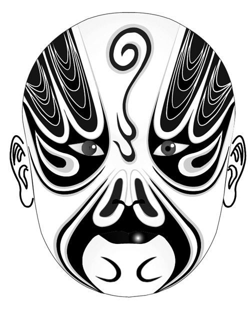 500x617 Beijing Opera Mask Photoshop Brushes