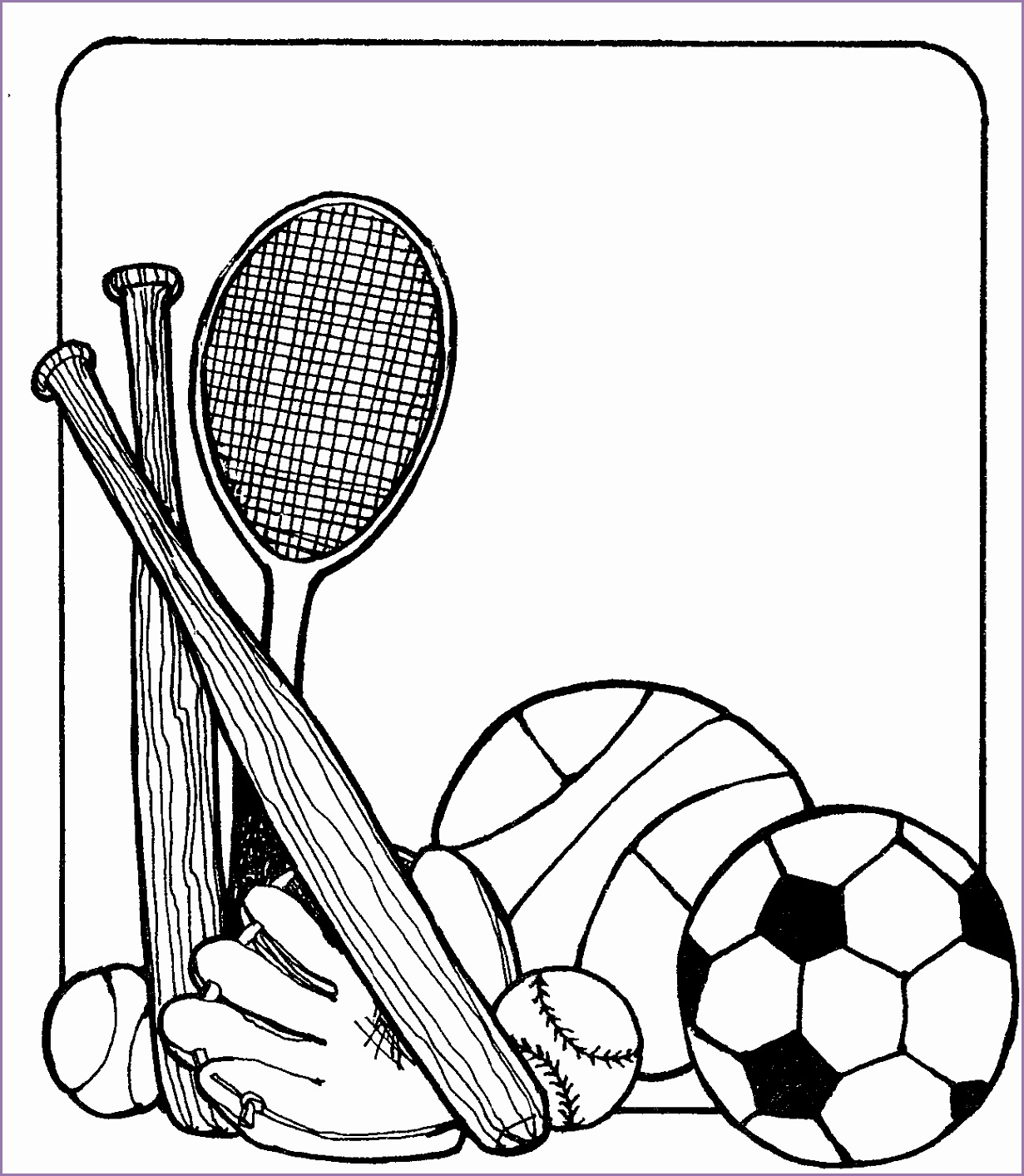 1231x1413 4 Physical Education Clipart Black And White