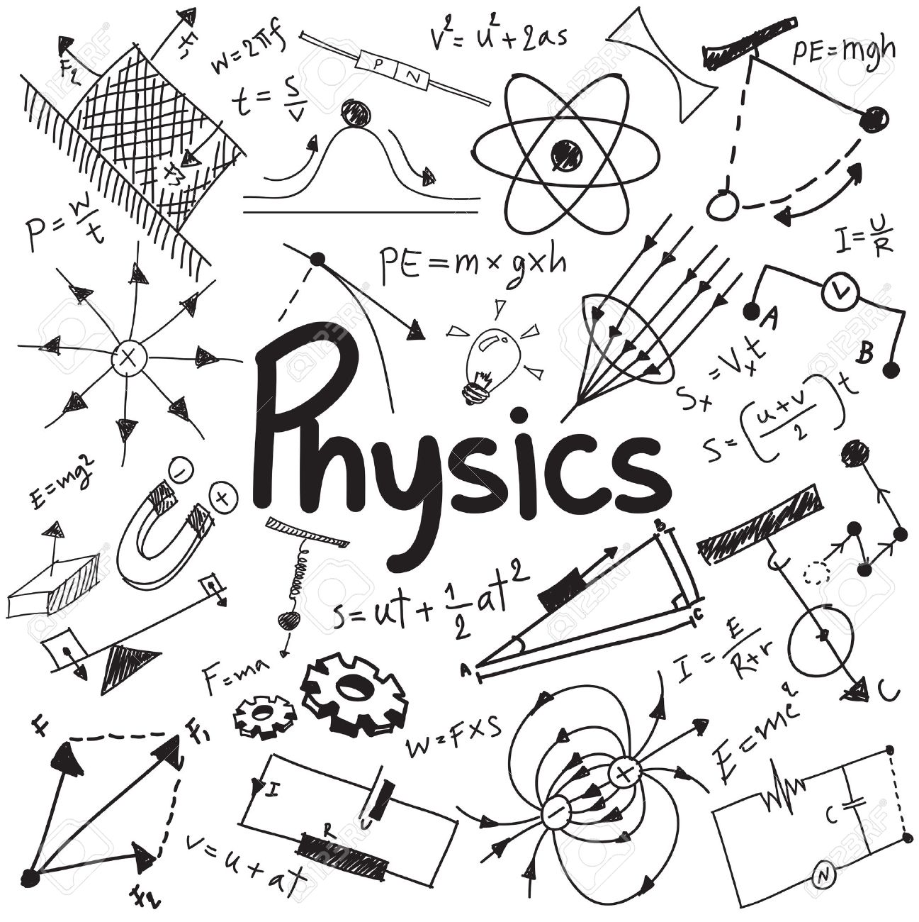 1297x1300 Physics Stock Photos. Royalty Free Business Images