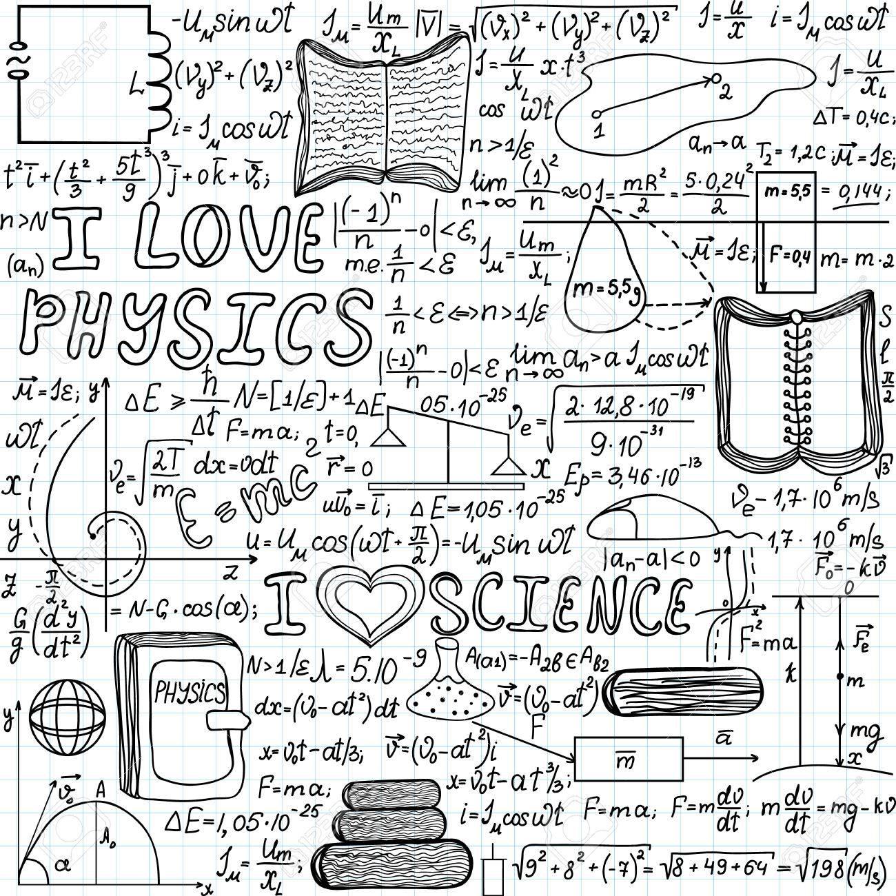 1300x1300 Beautiful Vector Seamless Pattern I Love Physics
