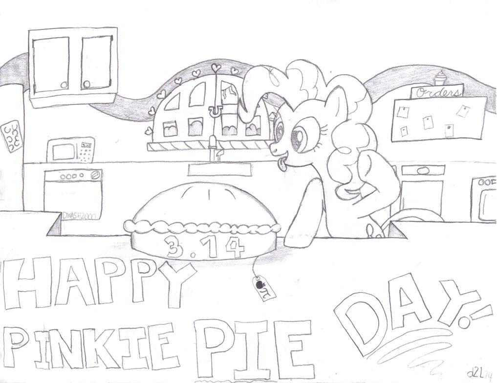1019x784 Happy Pinkie Pi Day (Drawing) By Dreamland200