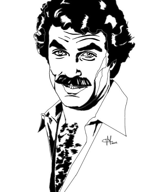 600x750 Tom Selleck Magnum Pi Poster By Vittorio Magaletti