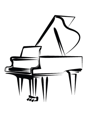 306x396 Buy Piano Sketch Cards, Pack Of 50 Music Stationery Greeting