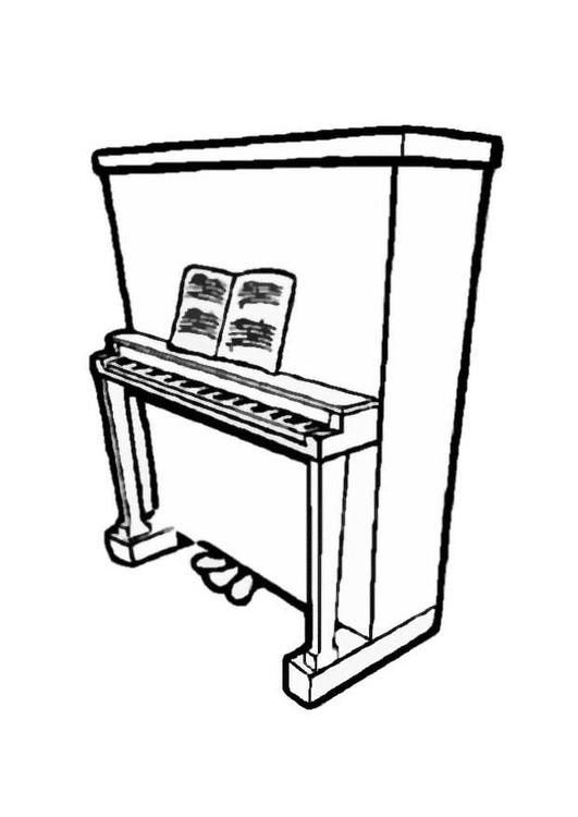 531x750 Coloring Page Piano 2