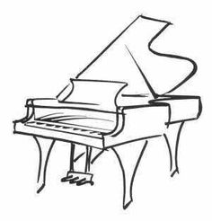 236x246 Drawn Piano Black And White