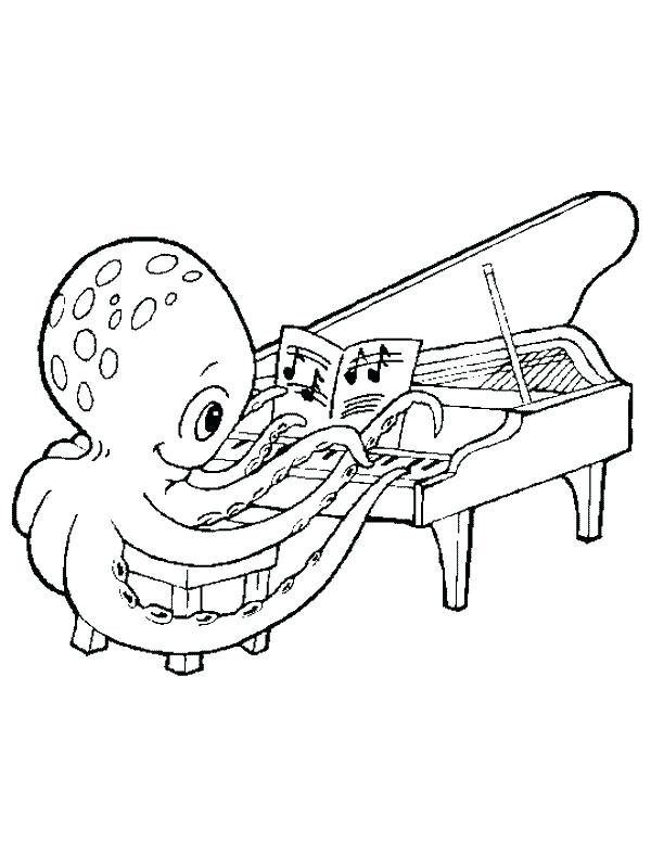 600x800 Musical Instrument Coloring Pages Real Piano Musical Instrument