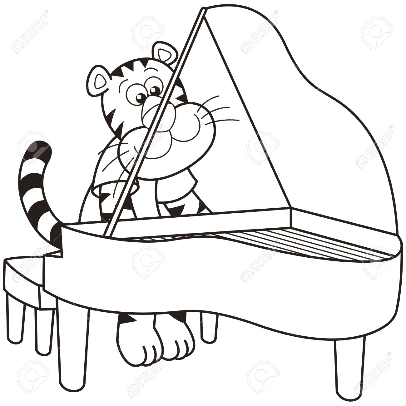 1300x1300 Piano Coloring Pictures