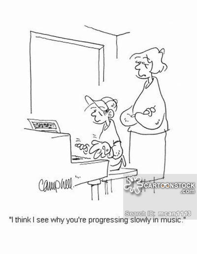 400x517 Piano Lessons Cartoons, Piano Lessons Cartoon, Funny, Piano