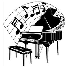 230x230 Woman Grand Piano Notes Cartoon Grand Piano Notes Poster I Got