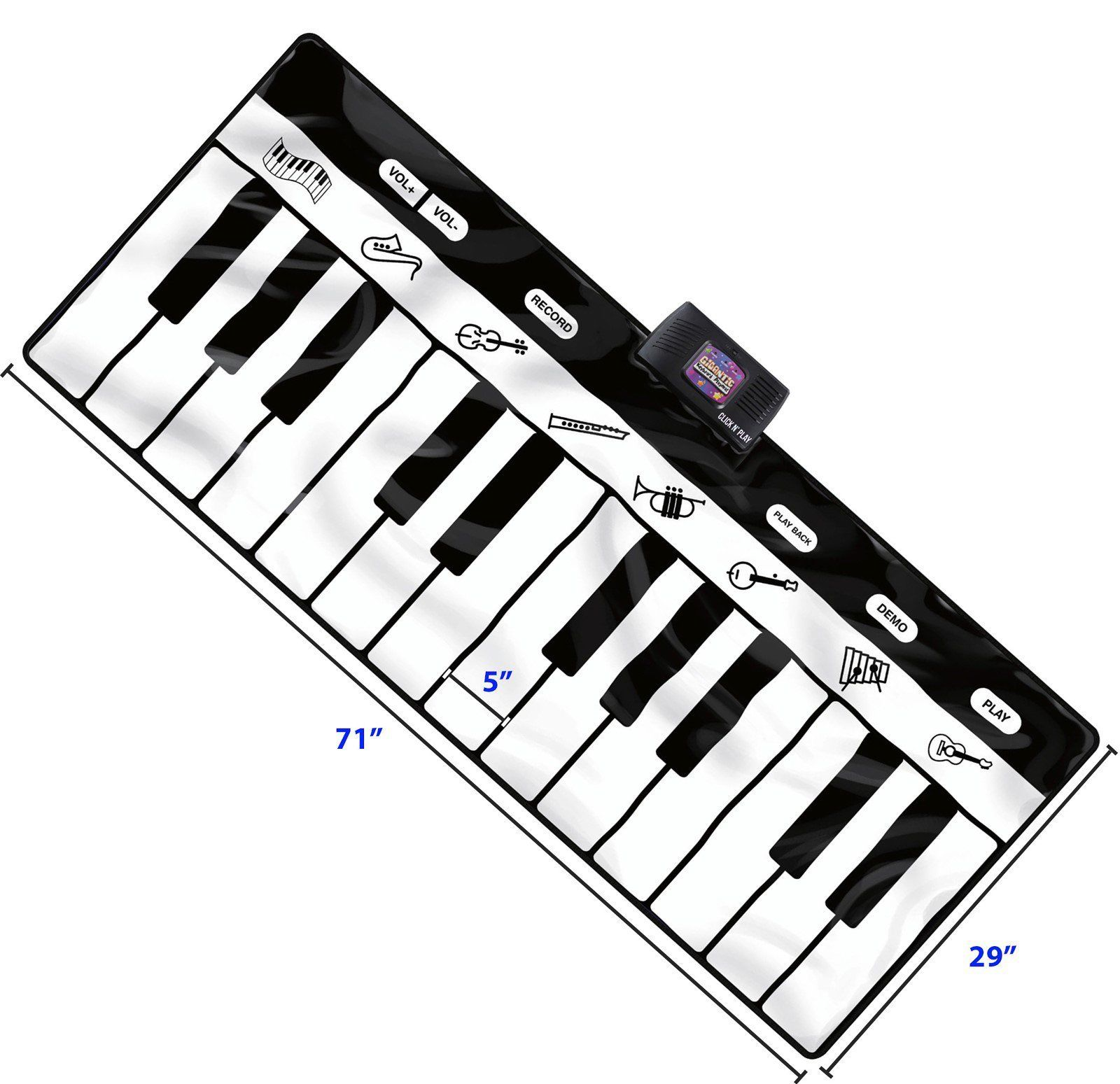 1600x1549 Jumbo Size Piano Keyboard Mat 24 Keys 8 Musical Instruments 4 Play