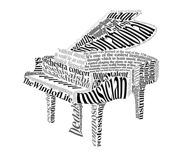645x551 Digital Arts 210 Piano Calligram Calligraphy