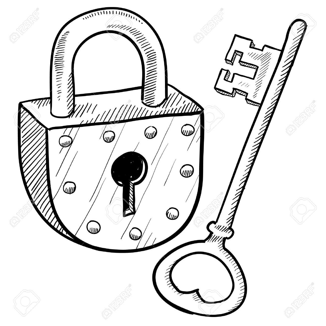 1300x1300 Key Lock Clipart