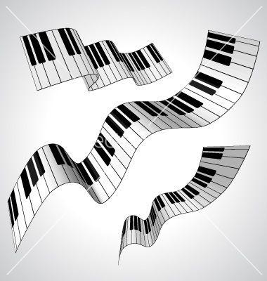 380x400 Piano Keys Art