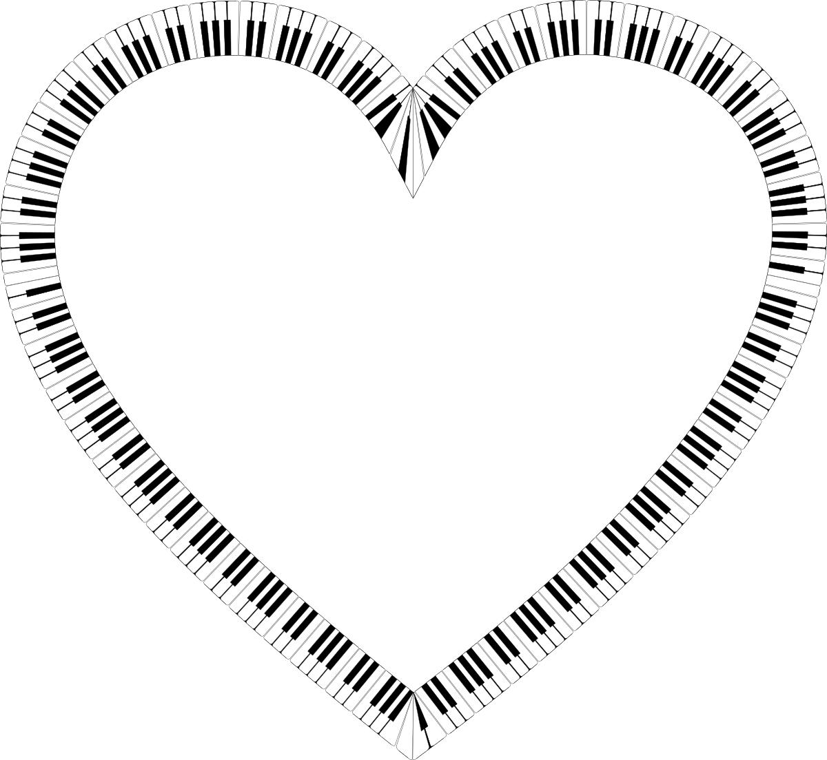 1200x1104 Piano Keys Heart