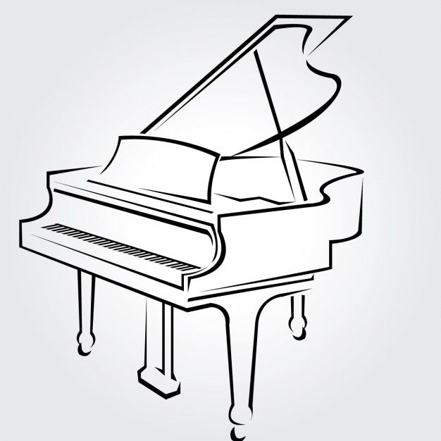 626x626 Piano Drawing Pictures