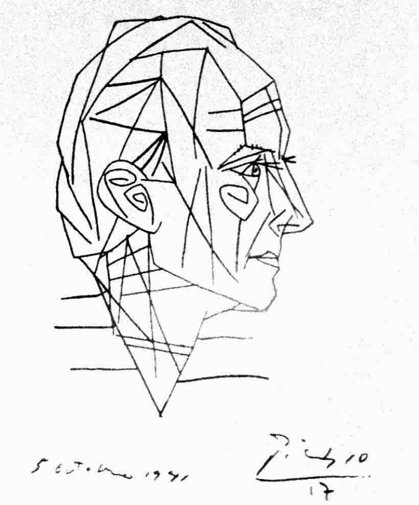 851x1024 Pablo Picasso Drawings Upside Down Drawing And Contour Drawing