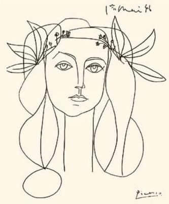 333x400 Picasso Head Of A Woman Holding Board For Future Pins