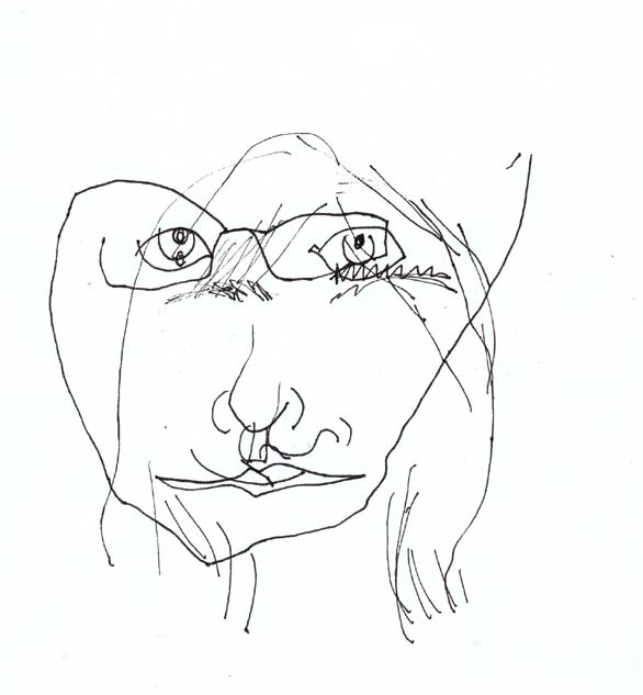 586x633 Blind Contour Face Contour Line Drawing Group
